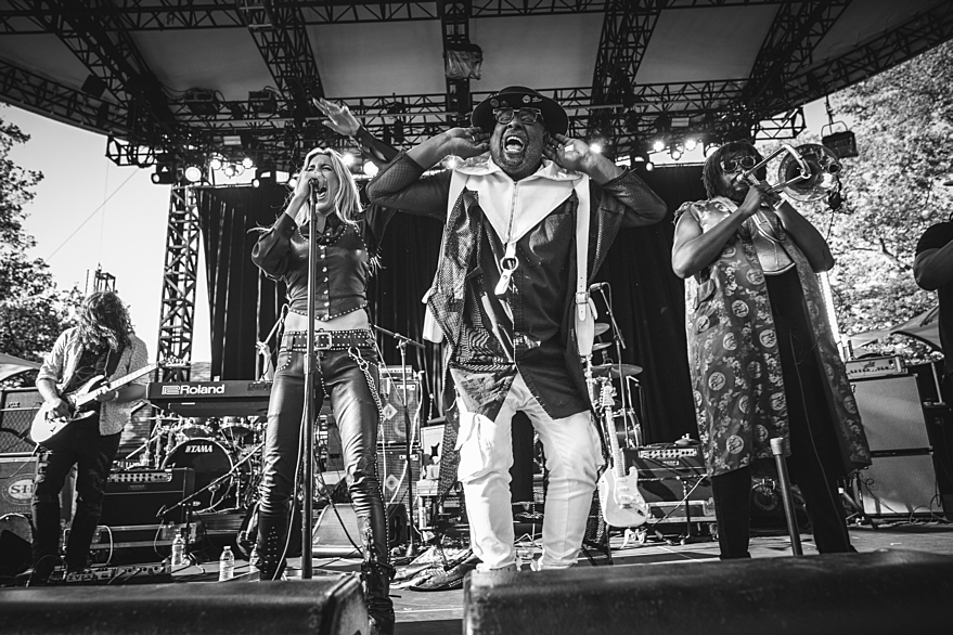 George Clinton and Miss Velvet and The Blue Wolf at Summerstage Central Park New York City