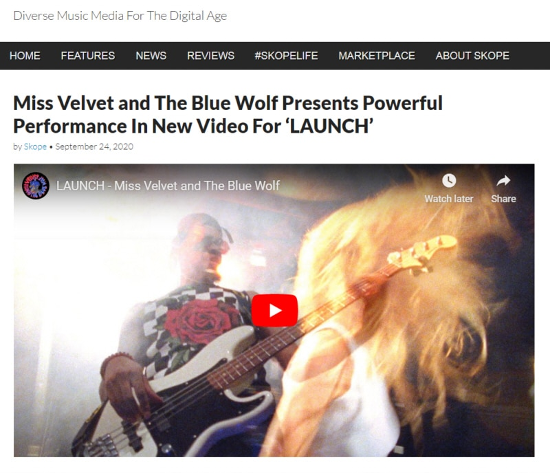 Miss Velvet and The Blue Wolf - Launch - Skope Magazine Review